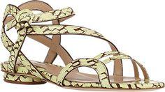 Chelsea Paris Snakeskin Amor Sandals - Flats - Barneys.com