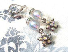 Ohrhänger - Sommerliche Kristall-Ohrringe - ein Designerstück von Gentle-Breeze…