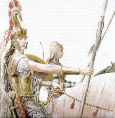 Alan Lee - The Amazon queen Penthesilea. Tags: trojan war, amazons, penthesilea, penthesileia,
