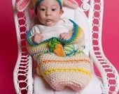 Easter Cocoon and Bunny Beanie Set Crochet Pattern PDF 187 @capecodcrochet