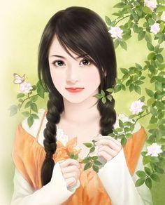 chinese art 中国美人画