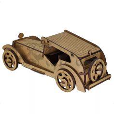 Antique Sport Car. Quebra Cabeça 3d. Miniatura Em Mdf. - R$ 39,00