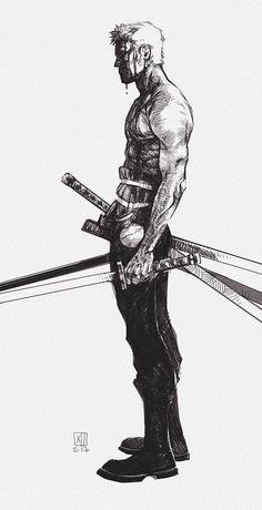 Manga Character Drawing One Piece, Roronoa Zoro. Roronoa Zoro, One Piece Tattoos, Pieces Tattoo, Anime One, One Piece Anime, Anime Girls, Manga Anime, Samurai Artwork, Images Star Wars