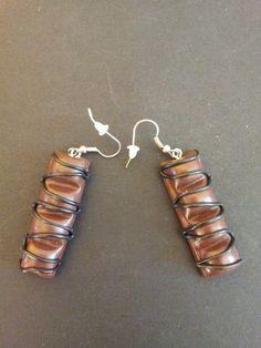boucles d'oreilles imitation kinder buenos de Jewelry fimo sur DaWanda.com