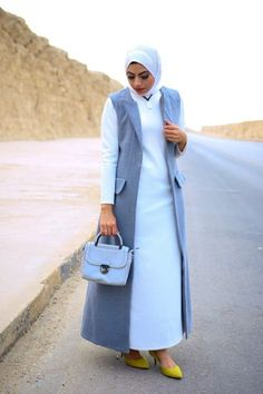 Maram snosy Egyptian hijab designs – Just Trendy Girls Abaya Fashion, Modest Fashion, Fashion Dresses, Muslim Women Fashion, Islamic Fashion, Womens Fashion, Hijab Style, Hijab Chic, Casual Hijab Outfit