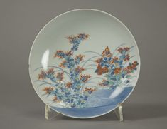 Small Dish with Design of Chrysanthemums and Autumn Grasses