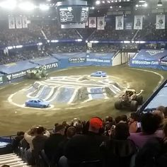 Time for Monster Jam! I have no idea where Scooby-Doo is!!  I may not be able to hear very well after today..  #nerd #geek #icons #timeless #favorites #monsters #MonsterJam #chicagoland #windycity #chicago #beautiful #beasts #beastshapechallenge #greasemonkey #goodtimes #trucks