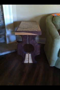 Black Walnut Table With Granite Top