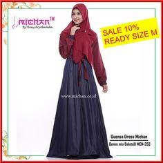 Gamis Michan Quensa Dress MCN 253 - baju muslim wanita baju muslimah Untukmu yang cantik syari dan trendy . . -Saku 2 depan (kanan-kiri) -Lingkar bawah kurleb 28m -Bahan : Denim Chambray mix Balotelli -Resleting depan busui friendly -Lengan manset dengan kancing Bungkus -Tali pinggang nempel yang bisa diikat kedepan atau belakang . . Size chart: XS: LD 92cm PB 130cm S: LD 94cm PB 135cm M: LD 96cm PB 138cm L: LD 100cm PB 140cm XL: LD 108cm PB 142cm . . Ready size M Harga Rp 200.000 diskon 10%…