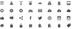 Free Axure Icon Library