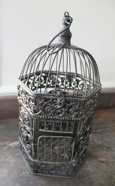 Southern Vintage rentals- small black bird cage