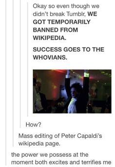 Never underestimate the Whovians.