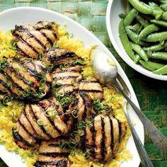 Garlic-Yogurt-Marinated Chicken Thighs | MyRecipes.com
