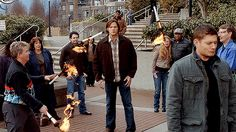 Tempting fate. Loved this whole scene. x) | Supernatural