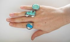 Vintage Old Pawn Turquoise Ring by HighDesertDaughters on Etsy