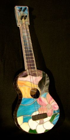 stained glass ukulele