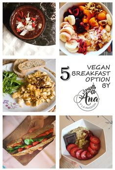 5 vegan breakfast options not only for vegans. Perfect for veganuary by Ana y la passion Vegan Breakfast Options, Vegan Options, Vegans, Passion, Ethnic Recipes, Food, Essen, Meals, Yemek