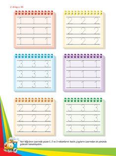 Okul Öncesi Etkinlik Mutlu Çocuklar Sokağı - Ek Kitapçık Number Tracing, Grade 1, Kindergarten, Preschool, Writing, Education, Books, Fine Motor, Index Cards