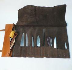 Garny Designs (Etsy) - knife roll Leather, hardware $525