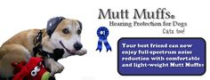 DOG SAFETY ON THE 4TH: Welcome to Mutt Muffs!. Hearing protection for dogs and cats. Great on the 4th of July to protect against firework hearing damage.