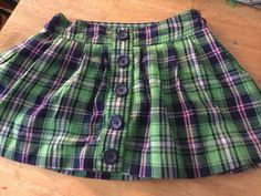 GIRLS, SIZE 8, JUSTICE PLAID SKIRT WITH SHORTS #Justice