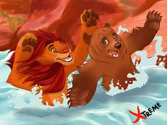 so come on welcome to our family time welcome to our brotherly time ! Kenai and Simba (Brother Bear / The lion king) Welcome to our family Disney Au, Disney Films, Disney Fan Art, Disney And Dreamworks, Disney Love, Disney Magic, Disney Pixar, Lion King 1, Lion King Fan Art