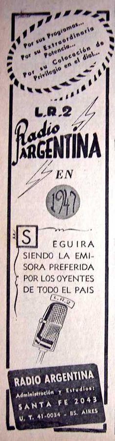 LR 2 Radio Argentina 1947