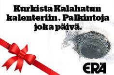 Osallistu facebookissa joulukalenteri arvotaan ja voita palkintoja joka päivä.  http://eralehti.fi/kalastus/joulukalenteri-eran-verkossa-kurkista-luukkuun-osallistu-arvontaan/