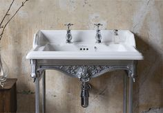 Subtle classical basin #MyTraditionalBathroom #BurlingtonBathrooms