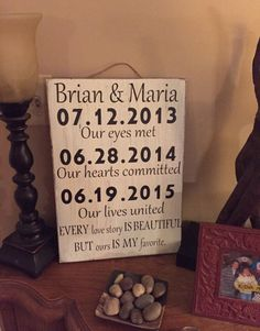 A personal favorite from my Etsy shop https://www.etsy.com/listing/243730312/distressed-wedding-signs-wedding-sign