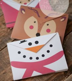 Como fazer envelopes para o Natal de bichinhos - Vale o Clique!