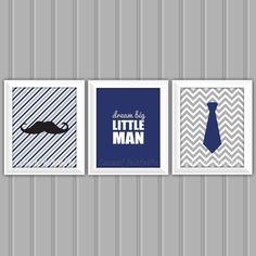 Little Man Wall Art Set Moustache Wall Art by CarouselPrintables, $15.00