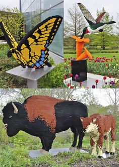 Sean Kenney's LEGO animal sculptures / Courtesy Scott McLeod via Flickr