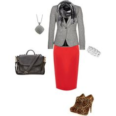 pencil skirt outfits | Red Pencil Skirt in the Fall | Outfit Ideas