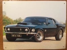 Tin Sign Vintage 1969 Ford Mustang Boss 429
