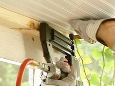 Beadboard Ceiling Install How To Do It - A new ceiling is one step in the process of creating a functional outdoor gathering place. Porch Ceiling, Plank Ceiling, Wood Ceilings, Ceiling Beams, Wallpaper Ceiling, How To Hang Wallpaper, Enclosed Porches, Decks And Porches, Front Porches