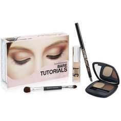 Bare Escentuals bareMinerals Bare Tutorials: Neutral Eyes Value Set ($15) ❤ liked on Polyvore featuring beauty products, makeup, eye makeup, no color, bare escentuals cosmetics, bare escentuals makeup, bare escentuals, contour brush and long wear makeup