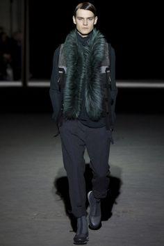 Dark green fur <3 at Drien Van Noten FW15