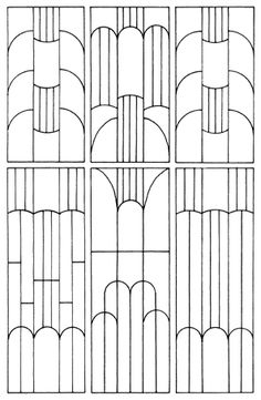 This chart is a bit of a help to see how the patterns used in Art Deco are…