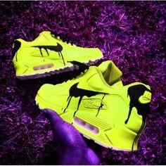 MasculinoFeminino Tênis Nike Air Max 90 KPU Sapatos Preto