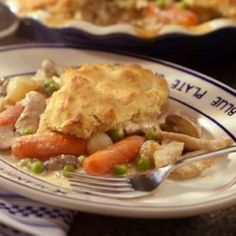 low fat chicken pot pie - maybe it's healthy because that serving size is TEENY