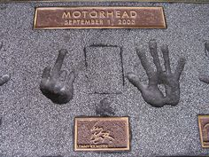 "Lemmy - handprints. At the ""Rock Walk"", Guitar Center, Sunset Blvd., Hollywood, CA. by ron kane"
