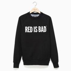Bluza patriotyczna Bluza RED IS BAD logo minimal - czarna - odzież patriotyczna Red is Bad