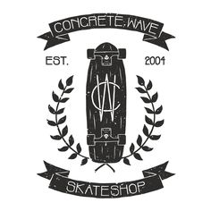 Concrete Wave Skate shop logo.