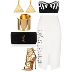 Untitled #174 by mayelin-decire-rodriguez on Polyvore featuring polyvore, fashion, style, L'Agence, Hurley, Giuseppe Zanotti, Yves Saint Laurent, ChloBo and Amber Sceats