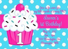 Cupcake Party Invitations Printable Birthday Invite