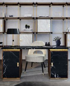 Feel the business atmosphere and the comfort of your home with this home office lighting ideas | www.contemporarylighting.eu #uniquelamps #contemporary #lightingdesign
