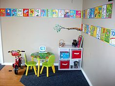 Dr Seuss letters & numbers boarder