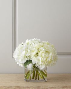 White Hydrangea Bouquet by Diane James at Neiman Marcus.