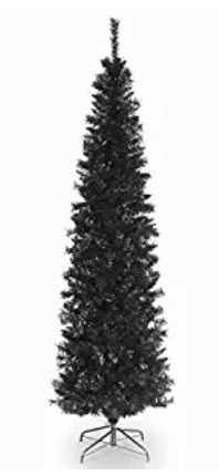 National Tree 6 Foot Black Tinsel Tree with Metal Stand Best Artificial Christmas Trees, Tinsel Tree, Look Good Feel Good, Metal, Top, Coloring Books, Black, Floral, Products